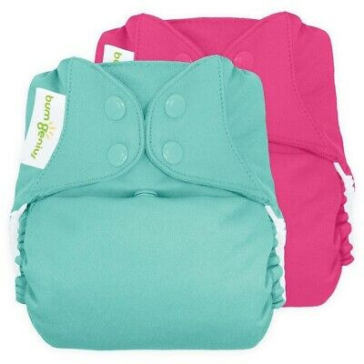 bumGenius Preloved Freetime All-in-One Snap Cloth Diaper One Size Pink Teal