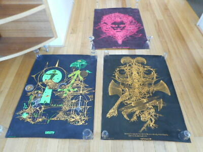 Vintage Retro Posters X3 Psychedelic Art Message Publications K.moate (Religion)