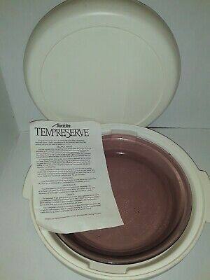 Aladdin Tempreserve Insulated Round Hot Cold Food Carrier Pie Dish Server IPC550