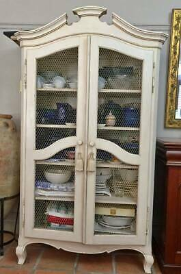 ANTIQUE VINTAGE French Provincial Armoire in Antique White