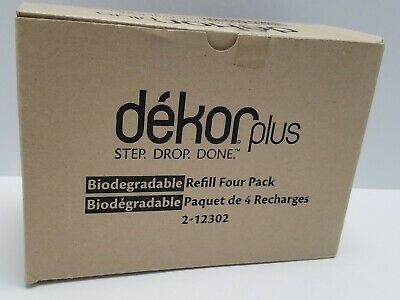 4 Pack Dekor Plus Refill Bag - Disposable Liners - Biodegradable (2-12302) NEW