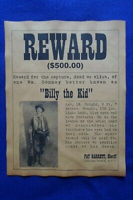 Billy The Kid Old West Wanted Posters Mafia Gang Gangster Bank Robber New Outlaw