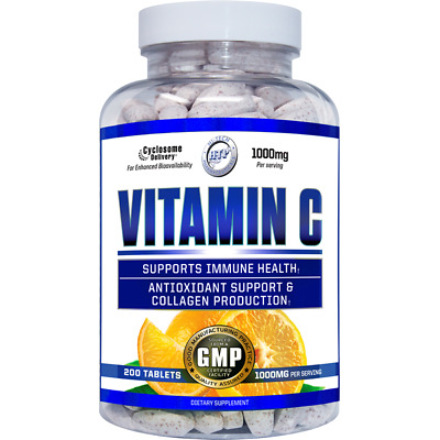 Liposomal Vitamin C 1000mg 200 Tablets Hi-Tech Pharmaceuticals USA MADE AND SHIP