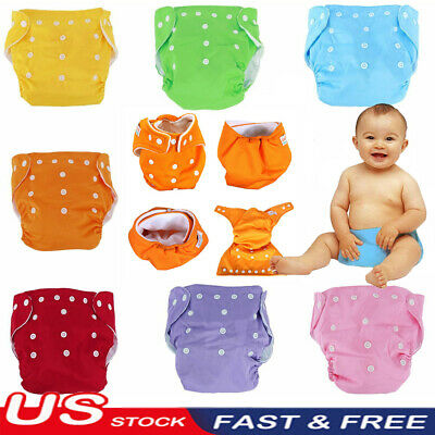 1Pcs Adjustable Reusable Lot Baby Washable Cloth Diaper Pocket Nappy Covers USA