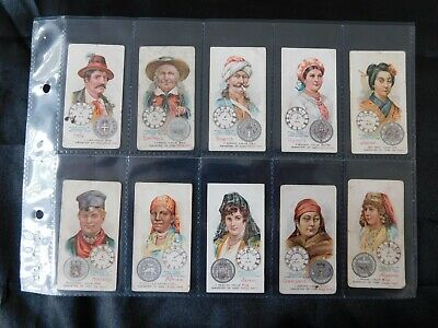 Capstan Time & Money in Different Countries Cigarette Cards Full Set 1908 Orig.