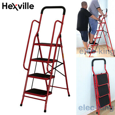 Protable 2 3 4 Steps Ladder Folding Non Slip Safety Heavy Duty Industrial Home