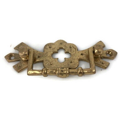 8 heavy handles polished pull solid brass heavy old vintage style drawer 4""