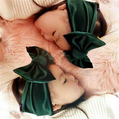 Toddler Girls Baby Big Bow Hairband Headbands Stretch Turban Knot Head Wraps o