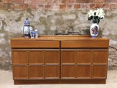 Vintage Mid Century Retro Mcintosh Teak Compact Sideboard /  Buffet Cabinet