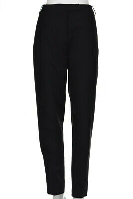Halston Heritage Womens Pants Size 4 Black Solid Dress Trousers Wool Slacks