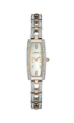 Bulova Women's Quartz Diamond Accent Two-Tone 30x15mm Watch 98X110