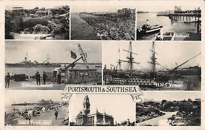 R311144 Portsmouth and Southsea. Beach. Portsmouth Dockyard. H. M. S. Victory. S