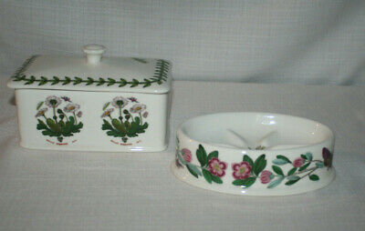 Portmeirion The Botanic Garden Croscill Soap Dish & Trinket Box With Lid