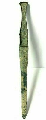 Ancient Near Eastern Bronze Dagger with handle
