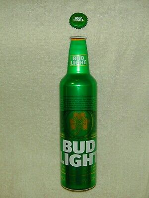 "3 Bud Light St. Patrick's Day 2019  16Oz  Bottle Htf W/Caps Sold ""As Is"" Empty"