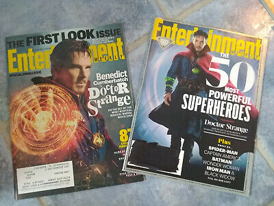 Lot 2 BENEDICT CUMBERBATCH Entertainment Weekly Magazines Doctor Strange 2016