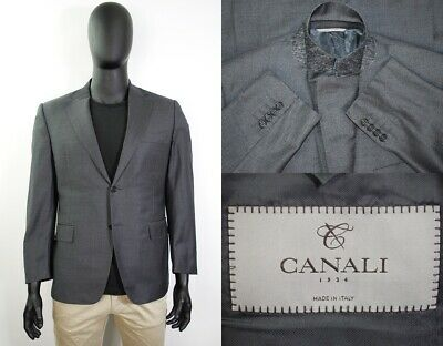 Lux Canali 1934 Silver Label Blazer 52IT 42US/UK Gray Wool Two Button Italy