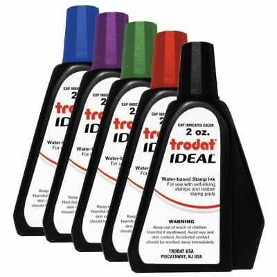 2 oz Trodat/Ideal Rubber Stamp Refill Ink For Stamps or Stamp Pads