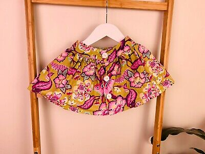 Girls Size 2 - 3 Button Up Floral Squirrel Print Skirt