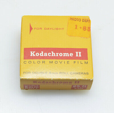 Kodachrome II 25ft. Daylight Double 8mm Color Movie Film, or 16mm Single Run