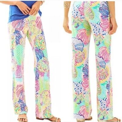 Lilly Pulitzer Georgia May Palazzo casual wide leg Roar of the Seas pant M