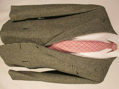 Brooks Brothers Mens Grey Houndstooth 2 Btn 100% Camelhair Blazer 40R USA Made