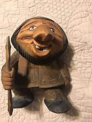 OTTO SVEEN SIGNED NORWEGIAN HAND CARVED WOOD Troll Norway Øien