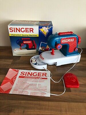 Children SINGER sewing Machine Chain stitch Sewing Machine Manual 2 Bobbins