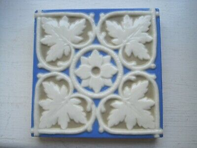Antique Victorian Arts & Crafts Gothic Revival  Porcelain Tile