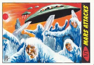 Topps 2012 Mars Attacks Heritage Sketch Card By Tim Proctor
