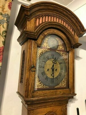 19Th Century Brass Arch Dial Longcase/Grandfather  Clock