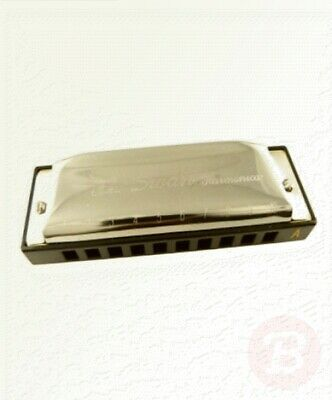 Swan 10 Hole Special-tune Harmonica Key of A - Silver