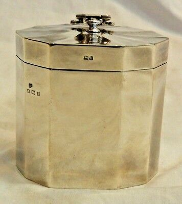 Antique Williams Ltd. Birmingham Sterling Silver George V Tea Caddy