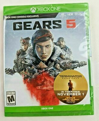 Gears of War 5 (Microsoft Xbox One) BRAND NEW SEALED - BONUS CHARACTER PACK