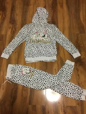 H & M Gorgous Girls Dalmatians Tracksuit Age 6 Years Old