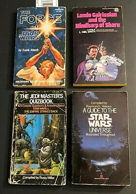 BOOK LOT/4 - Force of Star Wars, Jedi Masters Quizbook, Lando, Guide to Universe