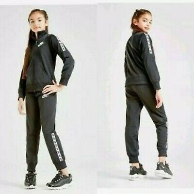 Unisex Nike Full Tracksuit Black Tricot Cj4364-010 Youth Size L (10-12 Years)
