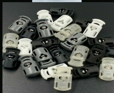 Variety  1 Hole Cord Stoppers Ends Toggle Spring Stop Lock Many 1Pc To 100Pcs
