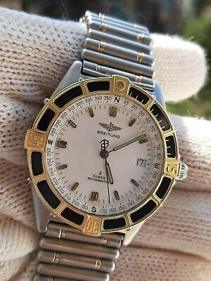 BREITLING J CLASS 80250 AUTOMATIC DATE GOLD 18K&STEEL  MENS 40mm SWISS MADE