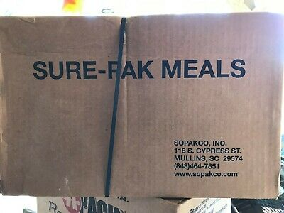 Sure-Pak  MRE Emergency Ready to Eat 12 Meals ready to heat rations Preppers