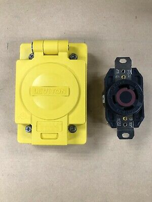 Leviton Wetguard L16-30R Waterproof Receptacle With Cover
