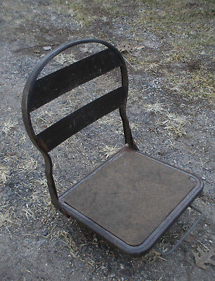 Vintage Industrial Metal Mounting Boat? Nautical? Sports Bench? Seat Chair Stool