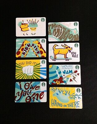 2019 Starbucks Recycled Paper Gift Card ----- Lot Of 8 Pcs. --- New