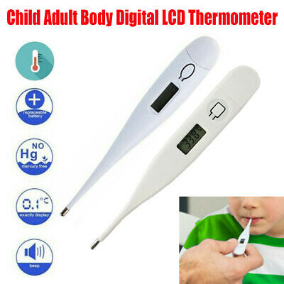 Digital LCD Thermometer Medical Baby Adult Body Safe Oral Electronic Thermometer