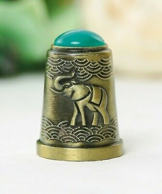 Thimble BUTTERFLY and DRAGONFLY Ornament Solid Brass Metal Russian Souvenir