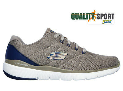 SKECHERS FLEX ADVANTAGE 3.0 Beige Scarpe Uomo Running