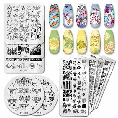 PICT You Nail Stamping Plates Animal Pattern Nail Art Templates Stainless Steel