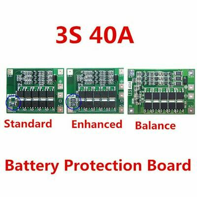 12.6V 18650 Lithium Battery PCB BMS Protection Board Motor AU 40A 3S For Dr T8I3