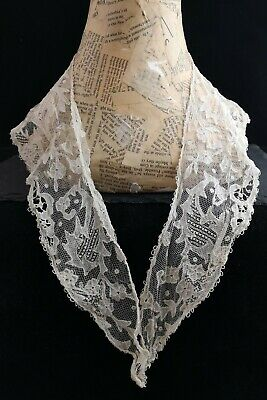 Antique Victorian lace collar, point applique