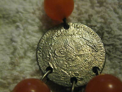 Antique Turkish earrings made of nickle  Tughra coins
